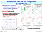 numerical results for the power corrections