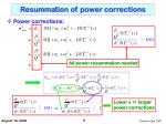 resummation of power corrections