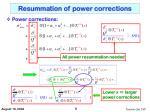 resummation of power corrections