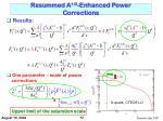 resummed a 1 3 enhanced power corrections