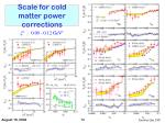 scale for cold matter power corrections