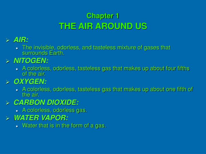 chapter 1 the air around us n.