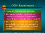 aicpa requirements