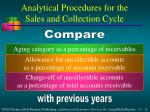 analytical procedures for the sales and collection cycle2