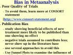 bias in metaanalysis