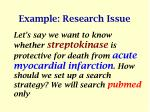 example research issue