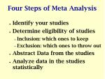 four steps of meta analysis