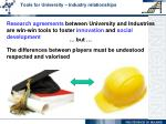 tools for university industry relationships