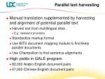 parallel text harvesting