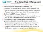 translation project management