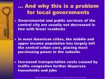 and why this is a problem for local governments