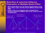 distortion of land use patterns polycentric or multiple nuclei cities