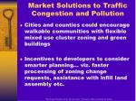 market solutions to traffic congestion and pollution