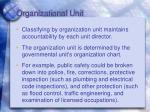 organizational unit