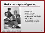 media portrayals of gender