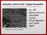 suburbia home of the happy housewife