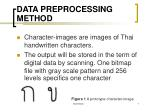 data preprocessing method