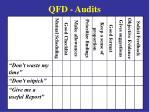 qfd audits
