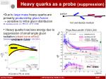 heavy quarks as a probe suppression