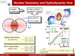 nuclear geometry and hydrodynamic flow