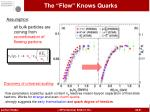 the flow knows quarks