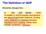 the definition of qgp