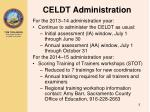 celdt administration