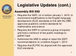 legislative updates cont