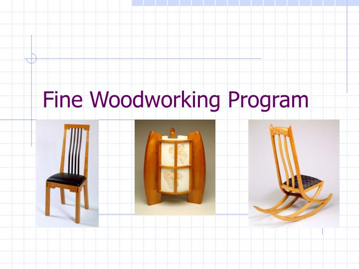 fine woodworking program n.