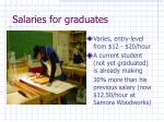 salaries for graduates