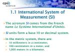 1 1 international system of measurement si