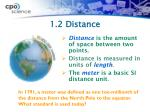 1 2 distance