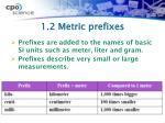 1 2 metric prefixes