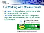 1 4 working with measurements