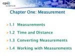 chapter one measurement1