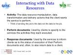 interacting with data resources
