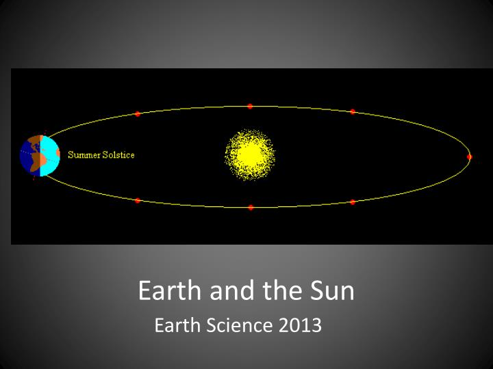 earth and the sun n.