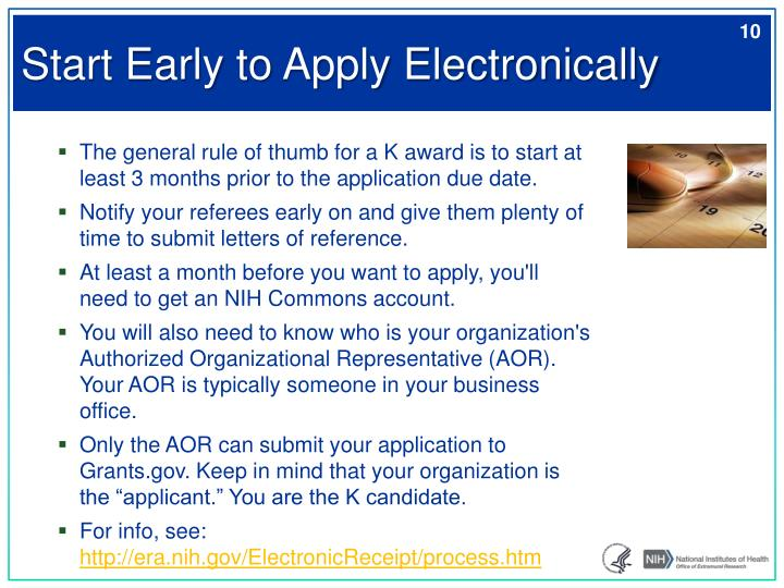 Start Early to Apply Electronically