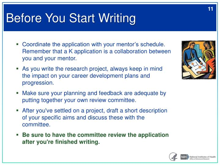 Before You Start Writing