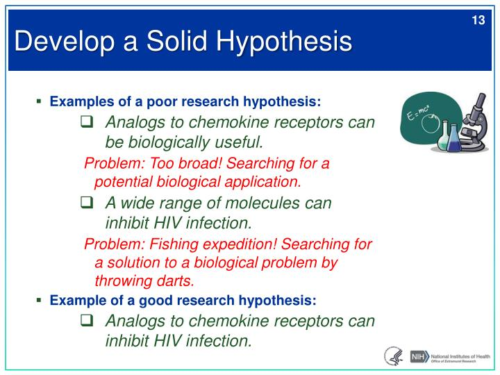 Develop a Solid Hypothesis