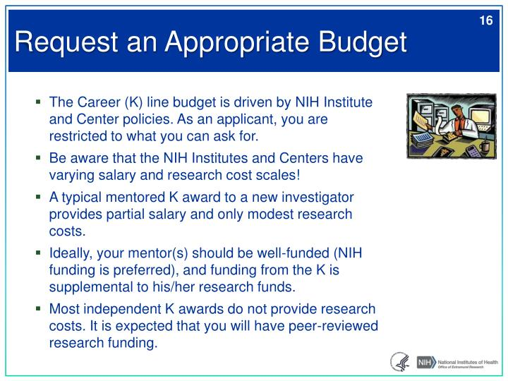 Request an Appropriate Budget