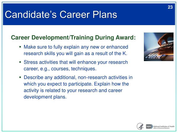 Candidate's Career Plans