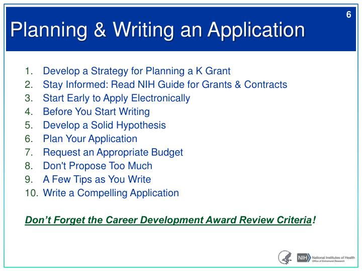 Planning & Writing an Application
