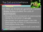 the cell and inheritance