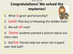 week 4 20 s club congratulations we solved the mysteries