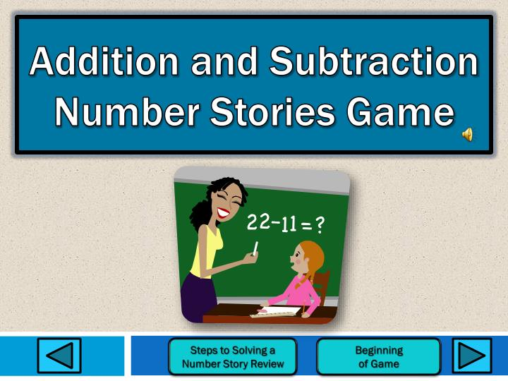 addition and subtraction number stories game n.