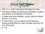 focus skill theme