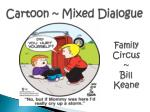 cartoon mixed dialogue
