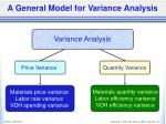 a general model for variance analysis1