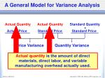 a general model for variance analysis3